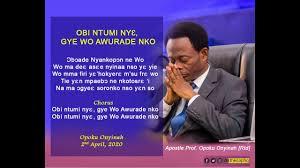Aps. Opoku Onyinah – Obi Ntumi Nnye
